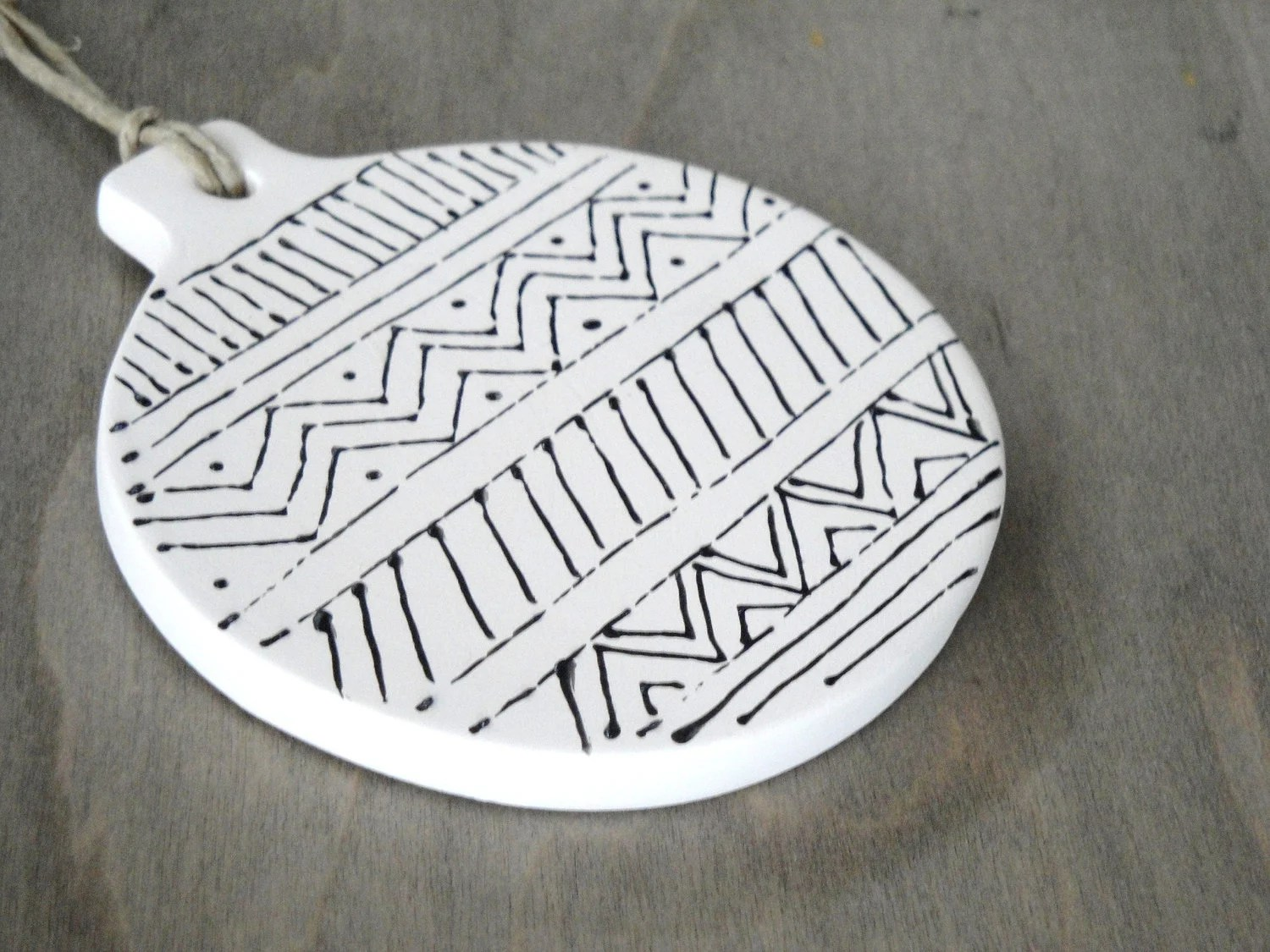 Hand-painted Tribal Patterns Ornament