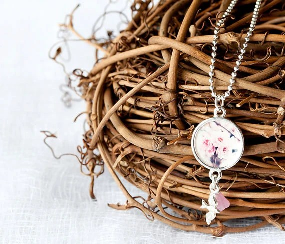 Wearable Art - Jewelry - Photography - Necklace - Sterling Silver - Gift For Her - Flower Photography - BLintonPhotography