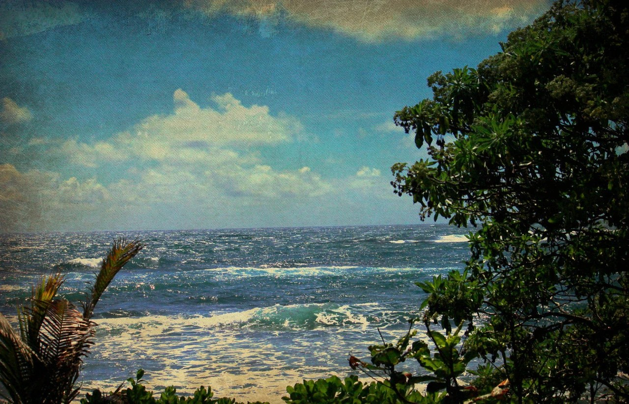 8 x 10 Vintage Style North Shore Oahu Ocean Rustic Hawaiian Tropical Photography