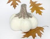 Decorative pumpkin, white pumpkin, autumn home decor - EthicStyle