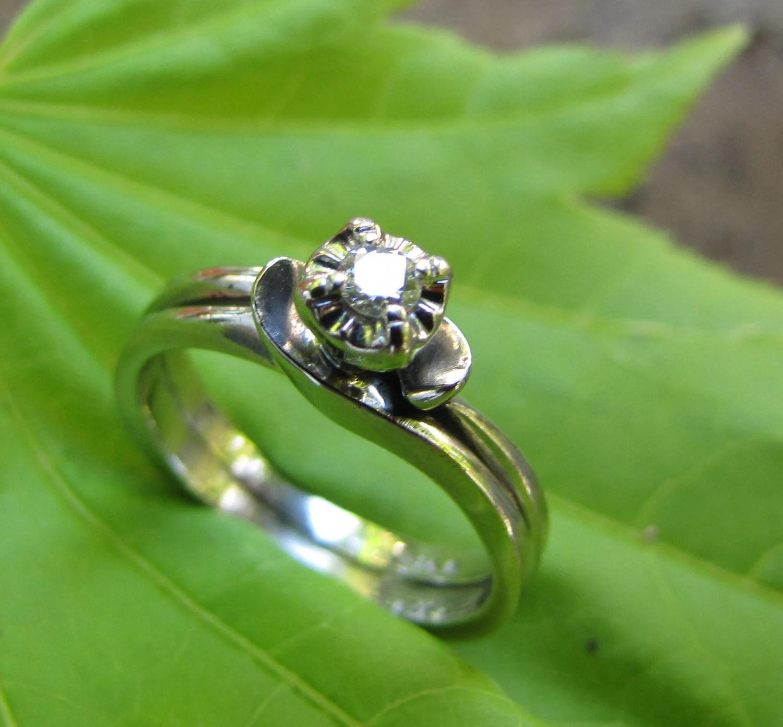 Illusion Head Solitaire Diamond Vintage Engagement Ring