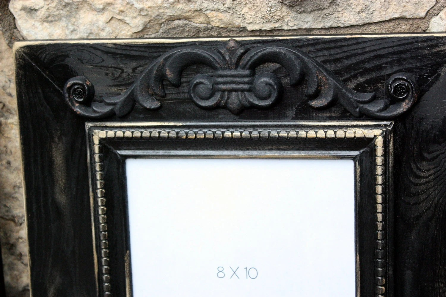 Items Similar To Distressed Classic Black Frames Set Of