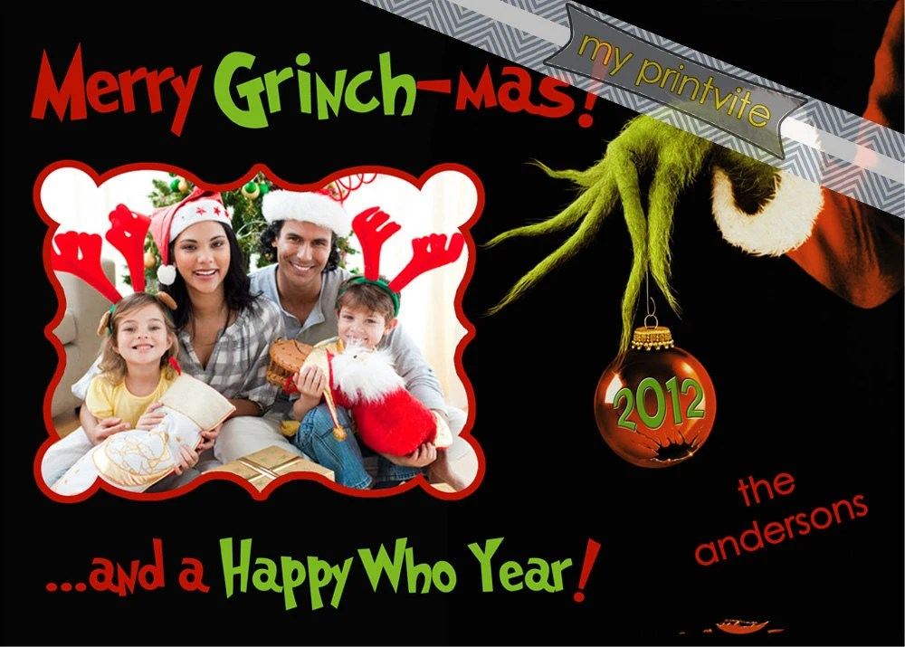 Grinch Mas Christmas Card Digital File By MyPrintvite On Etsy