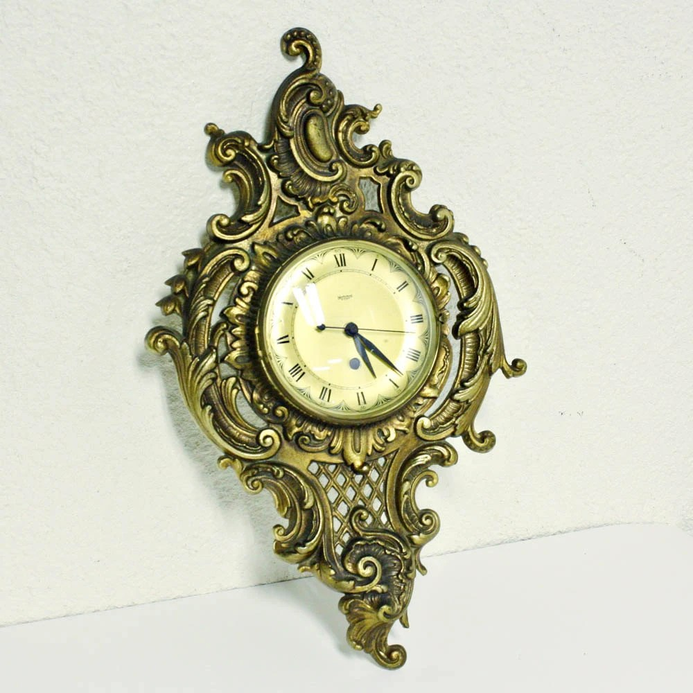 Vintage Clock Westwood 8 Day Ornate Cast Iron Wall