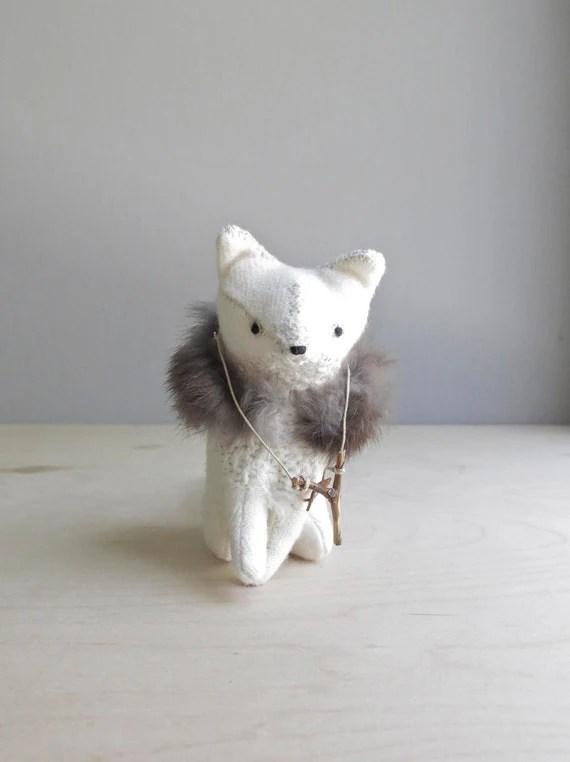 RESERVED / fierce fox / soft sculpture animal