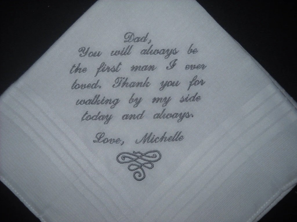 Download Wedding Hanky Father of the Bride Poem You by ...