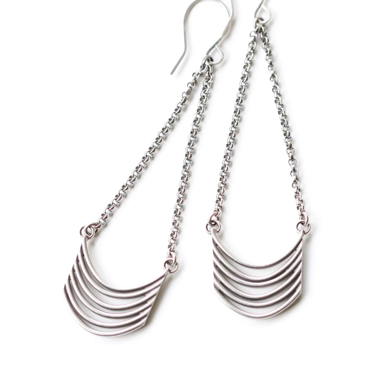 Unique And Visually Prominent Silver Earrings Stylish