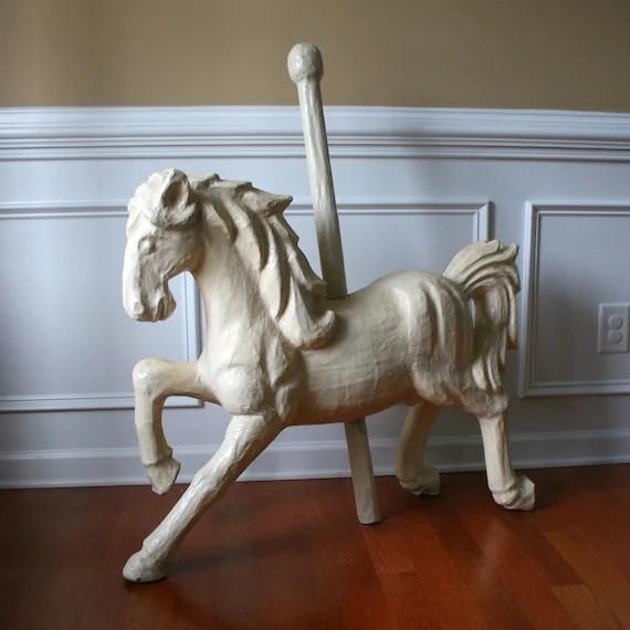 Paper Mache Carousel Horse Unique Home Decor Art By