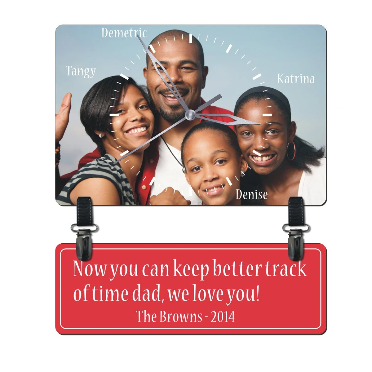 Customized Personalized Family Photo Wall Clock, Mothers Fathers Day Gift good for Christmas and Valentines - HourHands
