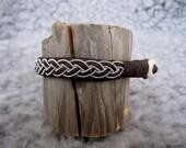 JOKK Brown Swedish Classic Lapland Sami style Bracelet Reindeer Leather Pewter Bracelet - HankandFriends