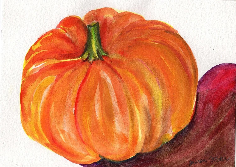 Watercolors Of Pumpkins