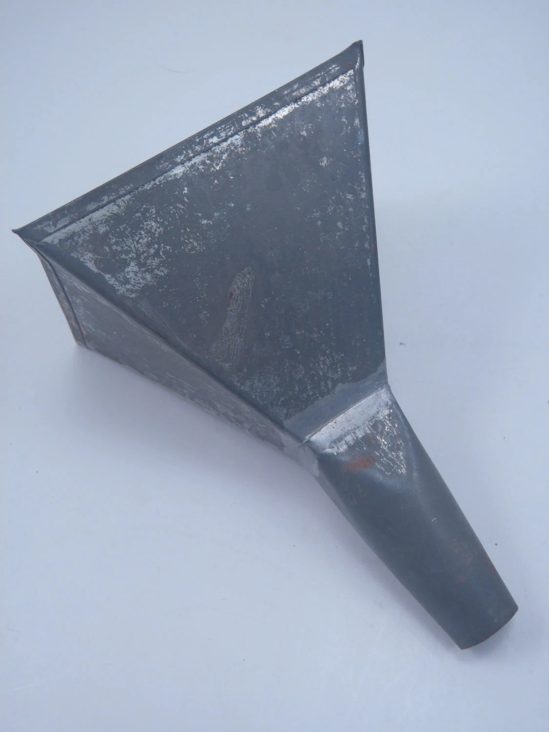 Vintage Metal Funnel Square Farmhouse Primative
