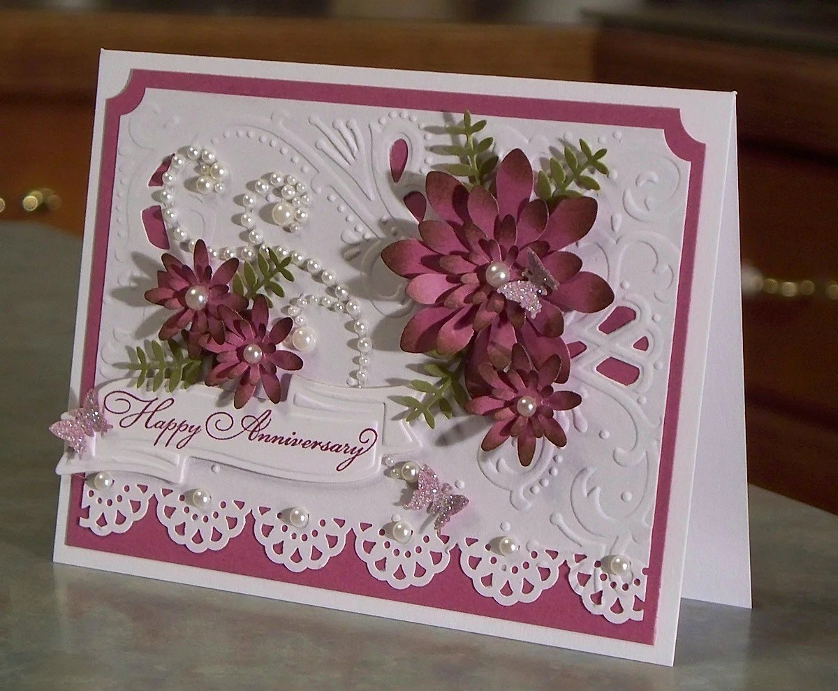Floral Anniversary Card Using Stampin Up Delightful Dozen