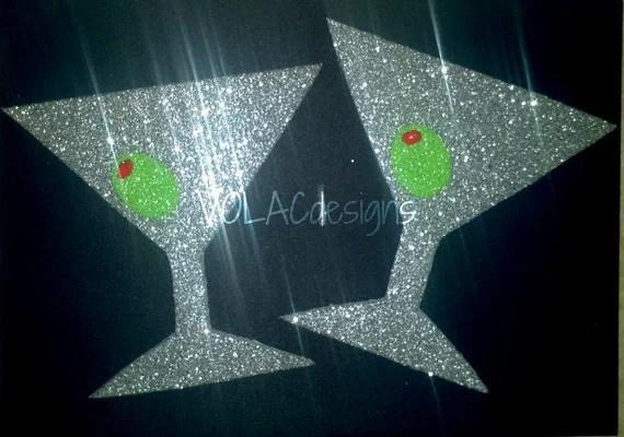 Martini glasses glitter pasties - volacdesigns