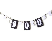 halloween ghost paper garland, BOO,decoration - JDooreCreations
