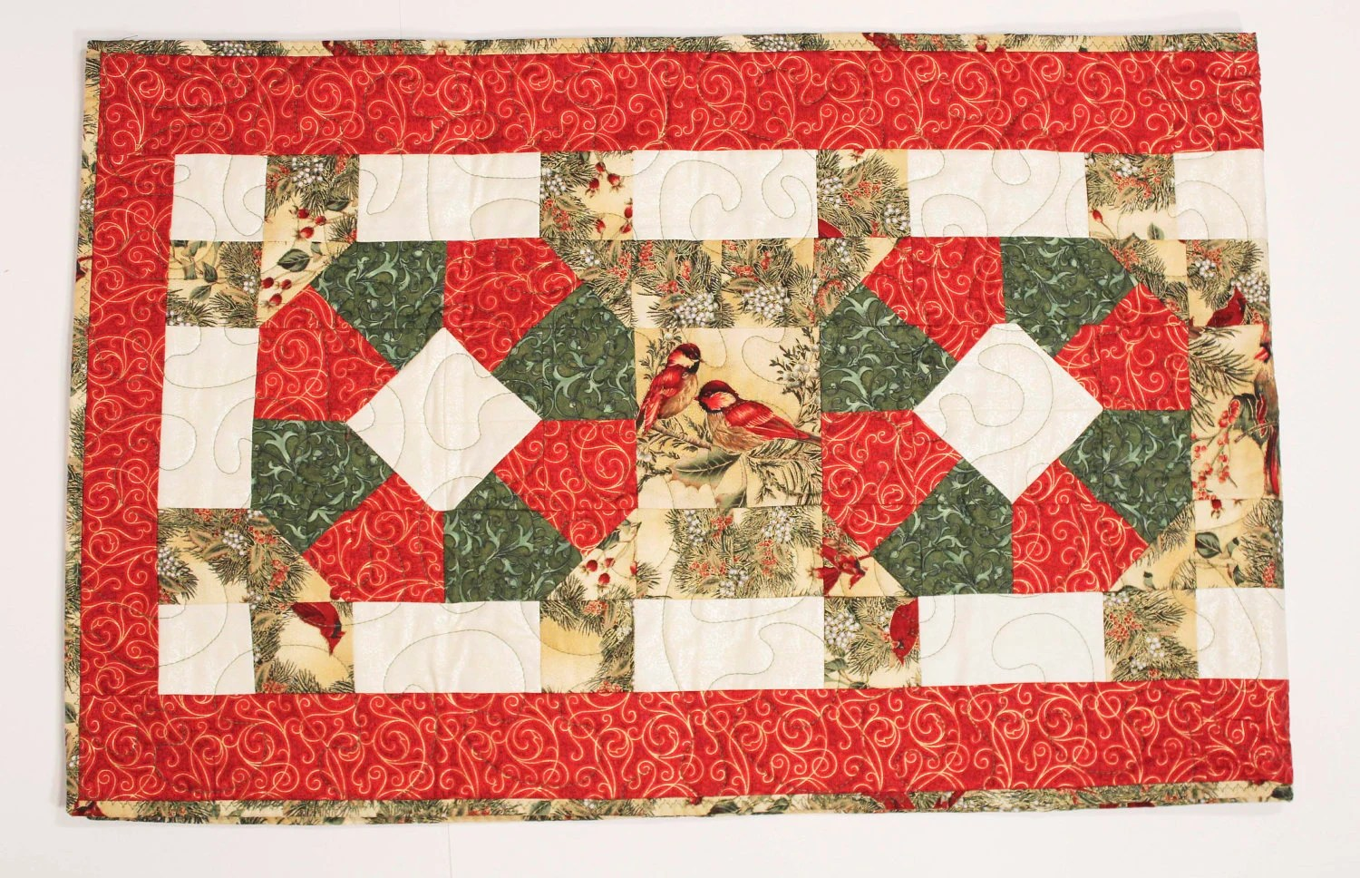 Winter Cardinals Tablerunner