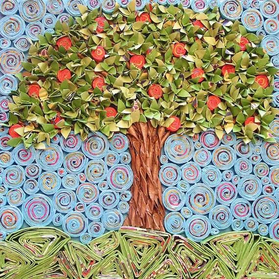 The Apple Tree Paper Mosiac