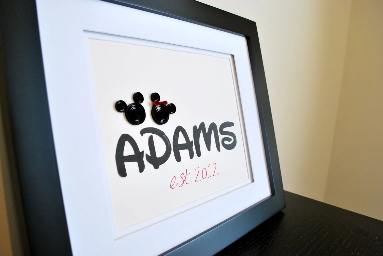 Personalized Mickey Mouse Gift For Wedding Anniversary Or
