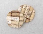 OpuluxeLtd Vino Cork Coasters