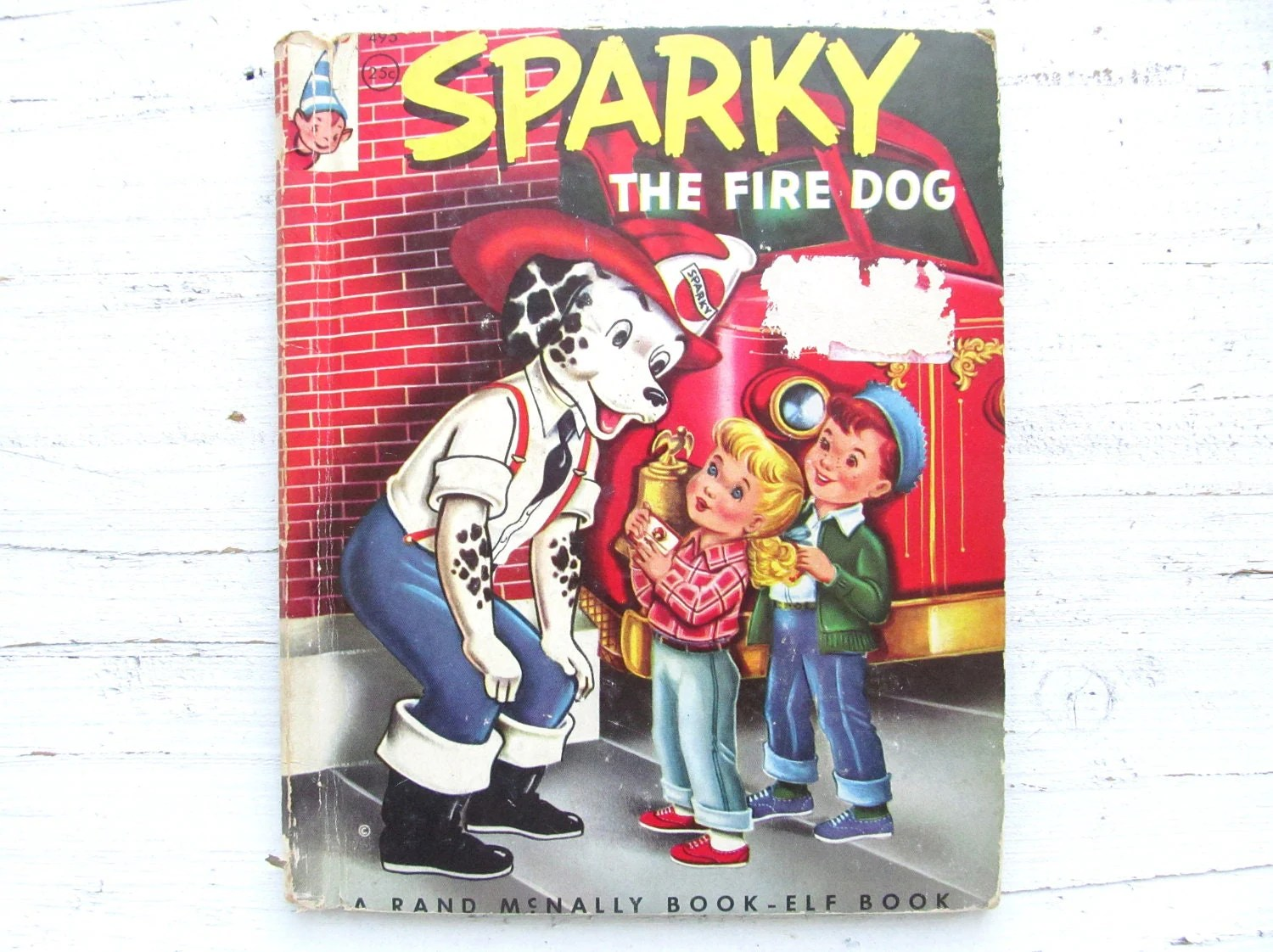 Vintage S Children S Book Sparky The Fire Dog