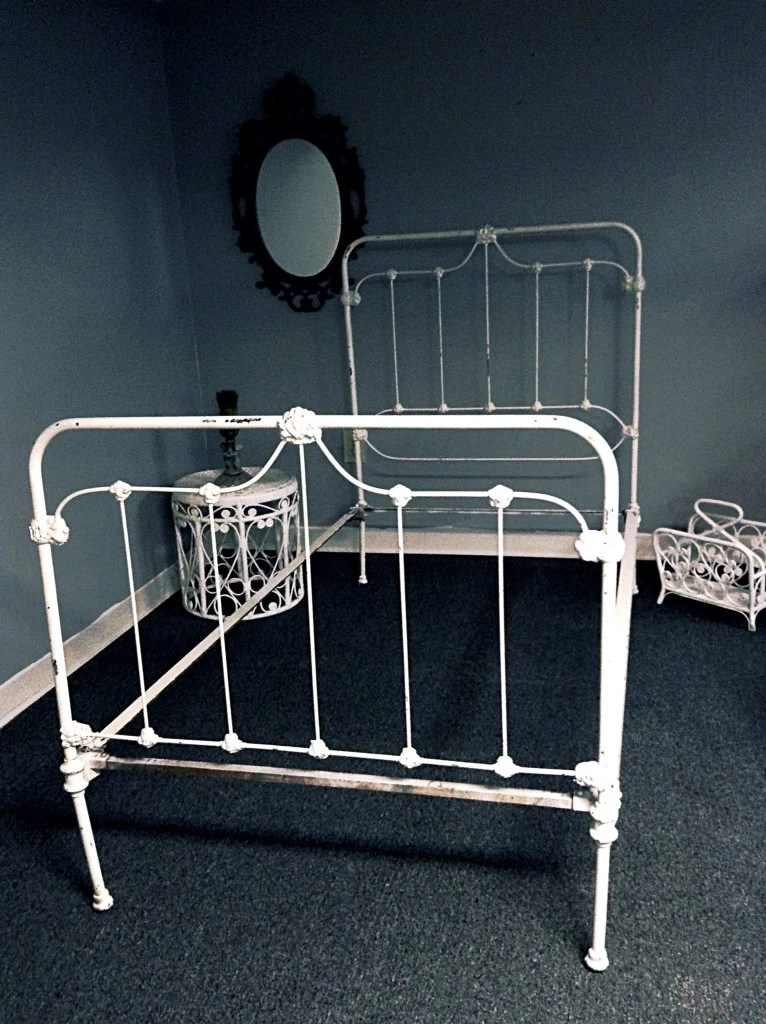 SOLD To Holly Antique Cast Iron Twin Bed Frame By HUEisit