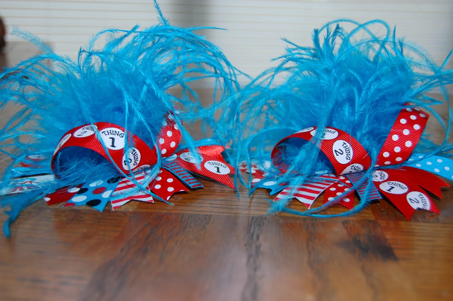 Thing 1 Thing 2 Over The Top Hair Bow With By Foryourlilprincess