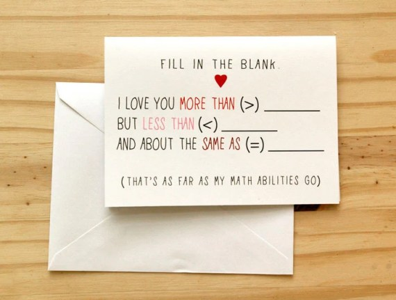 Fill in the blank Valentines Card