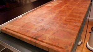 Red Ambrosia Maple Butcher Block Kitchen Island Counter