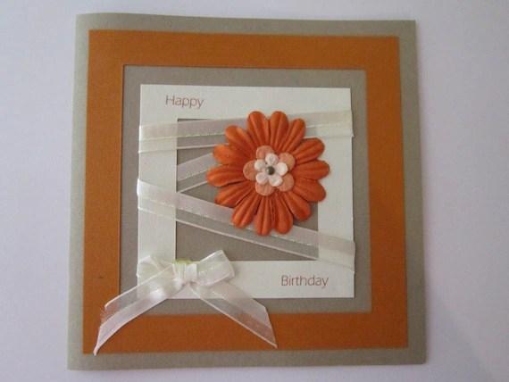 Handmade Birthday Day Card Woman Birthday Card By ElodiesShop
