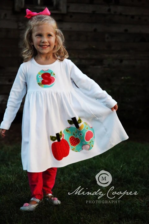 Fall Applique Dress Toddler Dress Or Girls By