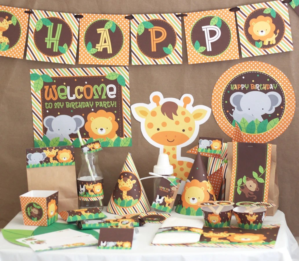 Jungle Safari Birthday Party Decorations Jungle Animals