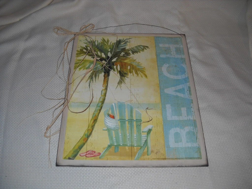 Items Similar To Palm Tree Beach Wooden Wall Art Sign