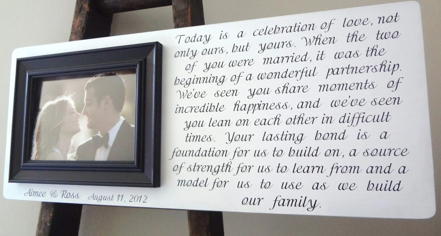 Wedding Frame Personalized Parents of the Bride & Groom Grandparents ...