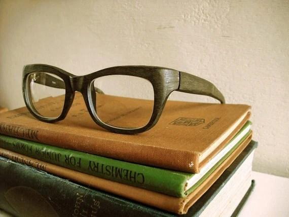 Rare 1960's Designer Reading Glasses by Filos (Sylvestro Calleri, of Italy). Unusual wood design. Unisex. - vintageandloved