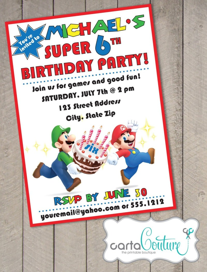 diy printable birthday invitations | Poemsrom.co