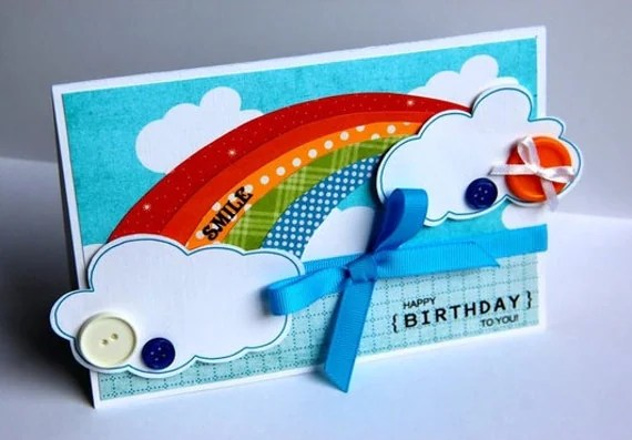 handmade birthday card etsy