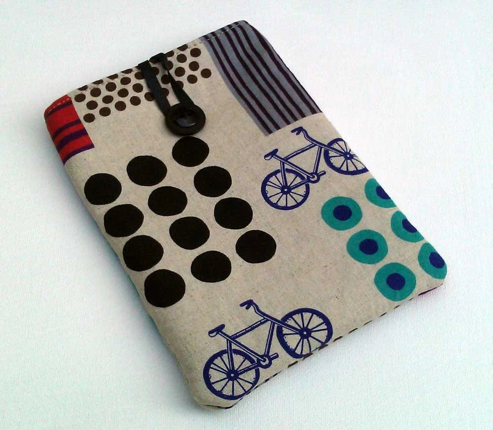 Android Tablet Cozy Padded Sleeve Bicycle Print - hellome
