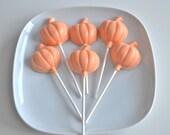 Pumpkin White Chocolate Lollipops 24 Pieces - NicolesTreats