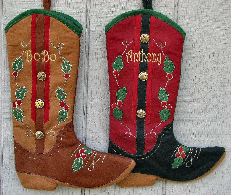 Cowboy Boot Christmas Stockings