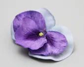Purple Pansy Hair Clip - LittleShopOfFlorals