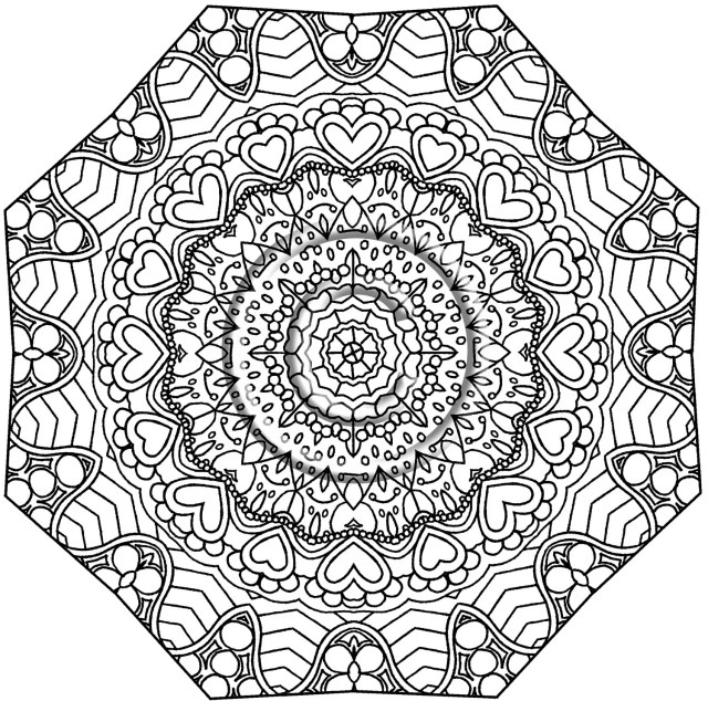 Kaleidoscope coloring pages to print