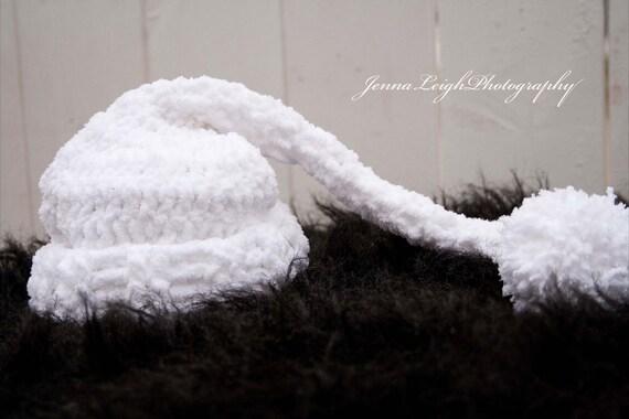 Furry White Elfs Hat