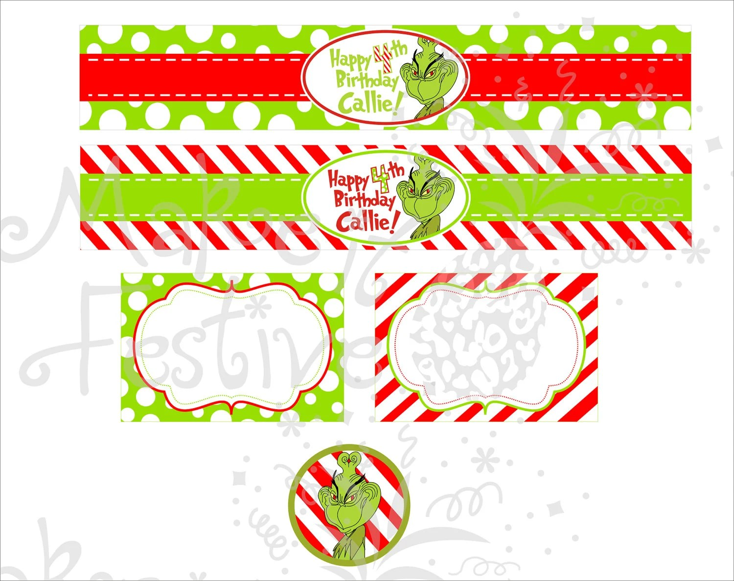 Happy Grinch Day By Makeitfestive On Etsy