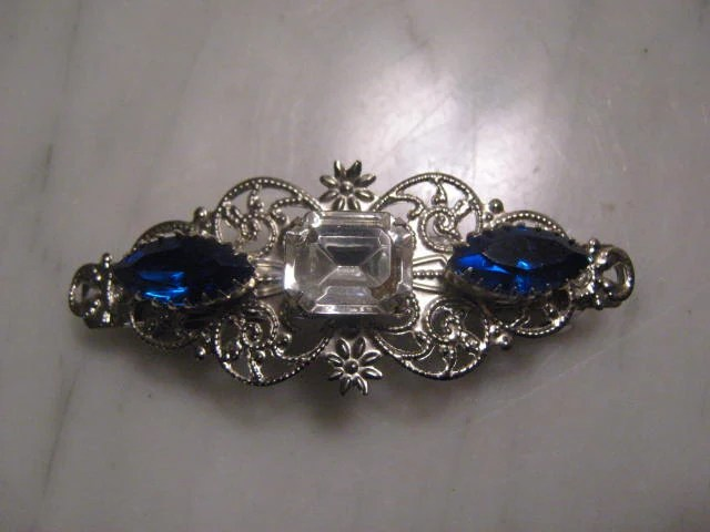 Items Similar To SILVER Filigree Barrette Hair Clip