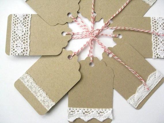 Items Similar To 8 Handmade Gift Tags Wedding Favor Tags
