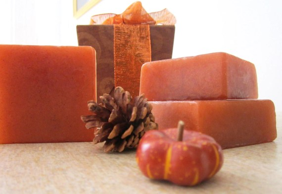 Warm Apple Cider with Pumpkin Seed Oil Soap Gift Set - Set of 3 - Fall Hostess Gift - Autumn Gift - Gift Wrapped - BOSSGirlsInc