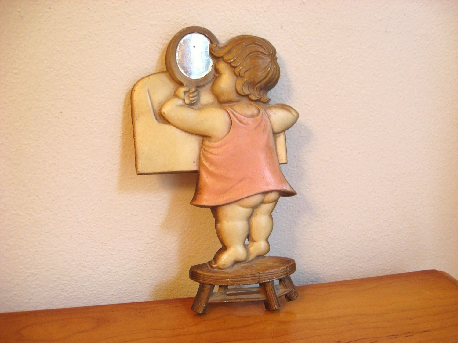 Vintage 1966 Sexton Wall Hanging Little Girl By