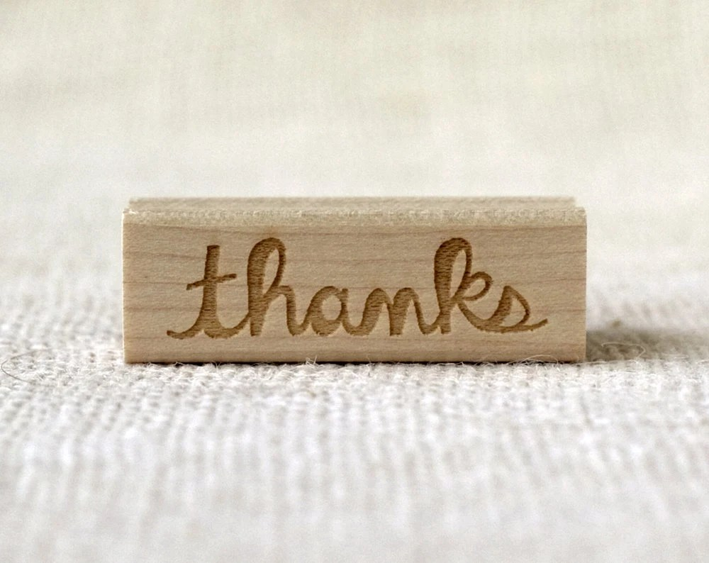 Rubber Stamp - Thanks - witandwhistle