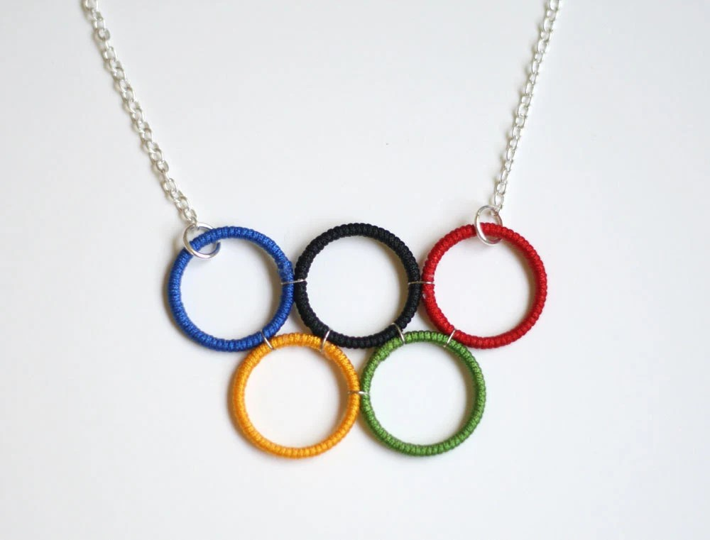 Olympic Rings Necklace, London 2012, Sports, Olympic Games