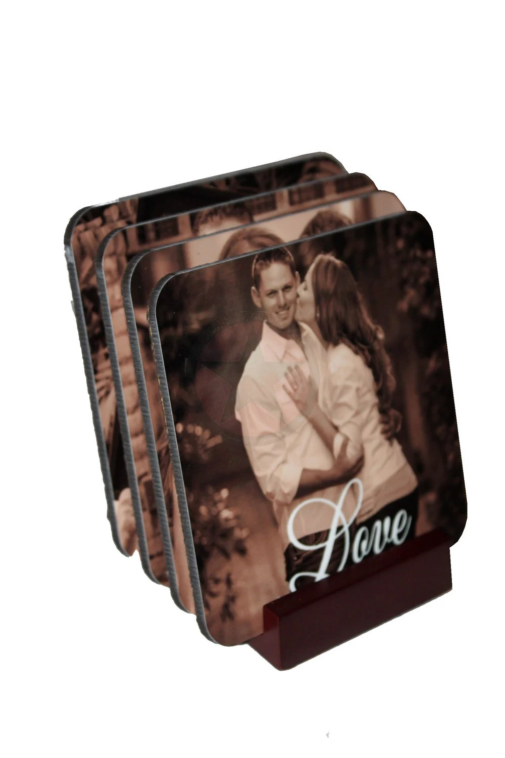 CHRISTMAS PHOTO GIFTS- Personalized  Photo Coasters-Great Housewarming,Wedding,Birthday gifts to give. - lonestaraccessories